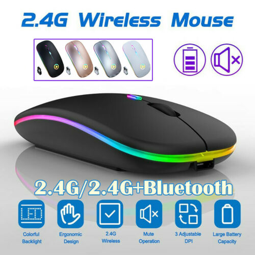 slim wireless mouse optical 2 4ghz bluetooth