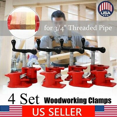 Profesional Woodworking Cast Iron Set Heavy Duty 3/4''Wood Gluing Pipe Clamp - Heavy Duty Iron Pipe