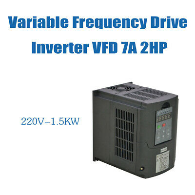 2hp 7a 1.5kw 220v Vsd Vfd Cnc Product Variable Frequency Drive Inverter New Top