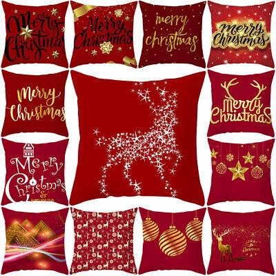 Office-sofa (Merry Christmas Elk Star Cushion Cover Pillow Case Home Office Sofa Chair Decor*)