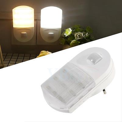 led nachtlicht mit infrarot bewegungsmelder f r eu steckdose treppen gang licht ebay. Black Bedroom Furniture Sets. Home Design Ideas