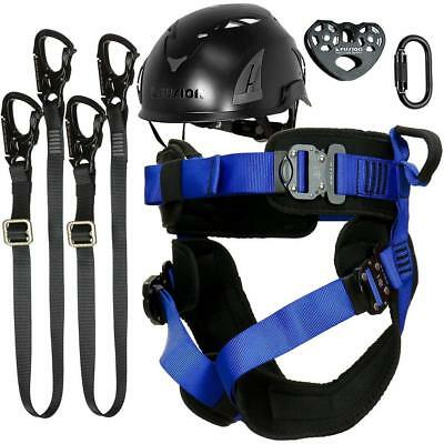 Fusion Climb Tactical Adults Commercial Zip Line Kit Harness Lanyard Trolley