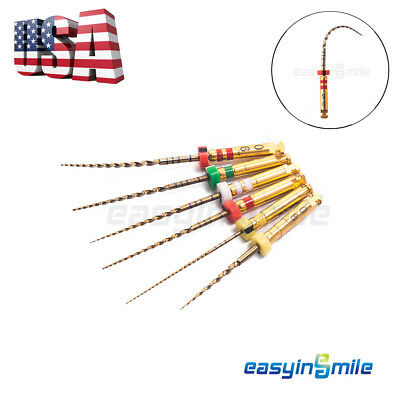 Easyinsmile X3-pro Gold Dental Endo Rotary Niti Files Root Canal Engine 6 Files