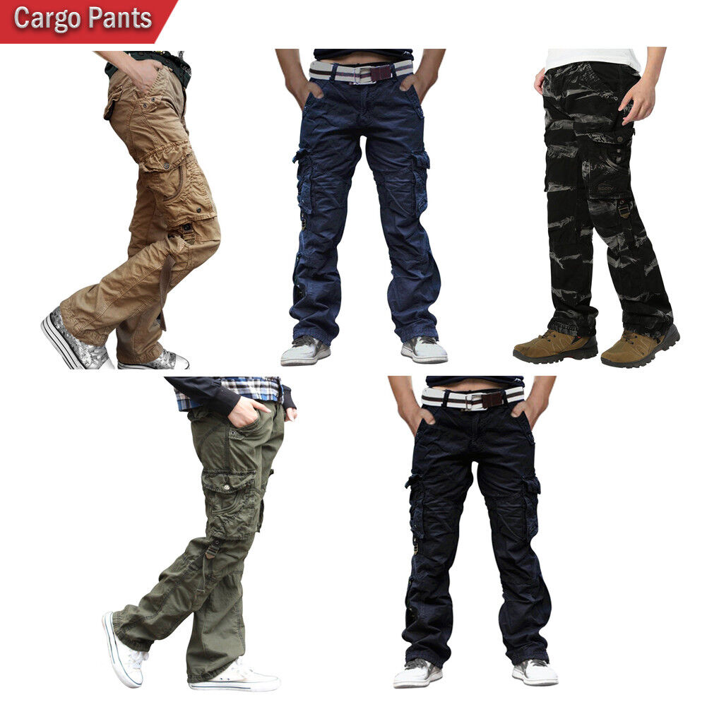 Men's Cotton Casual Camping Hiking Army Twill Cargo Combat P