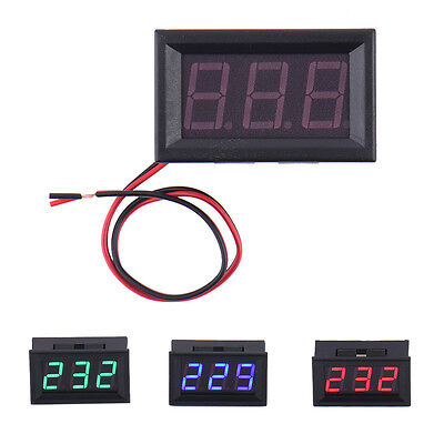 70-500v Ac Voltmeter Led Panel 3-digital Display Voltage Meter With 2 Wires