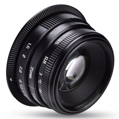 35mm F/1.6 Manual Focus Prime Lens Sharp High Aperture for Sony E-Mount  Canon