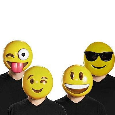 Emoji Masks (Choose Your Mask) Smile Wink Emoticon Phone Costume Adult](Emoji Wink)