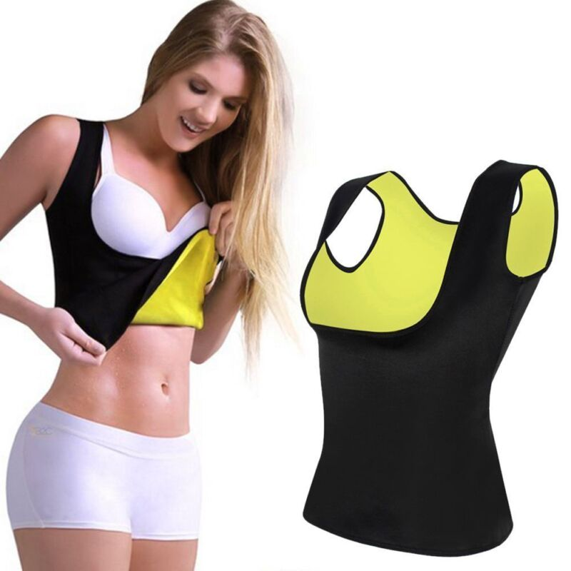 fc554edb326 HOT Women Thermo Body Shaper Tank Top Sauna Shapewear Underbust Waist  Trimmer US