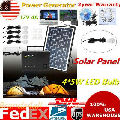 Portable Power Station Generator Emergency Power Supply  w/Inverter Solar Panel Portable Power Station