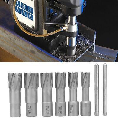 6pcs Set Annular Cutter 34 Weldon Shank 58 - 1 Magnetic Open Drilling Bit