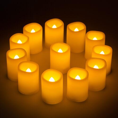12X LED Flameless Candle Light Timer Wedding Party Xmas Flic