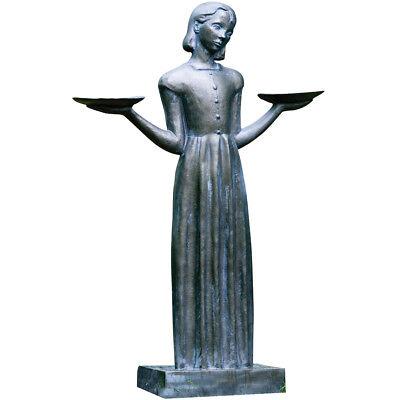 "Resin Bird Girl Garden Statue Sculpture Feeder (Large - 37"") Sylvia Shaw Judson"