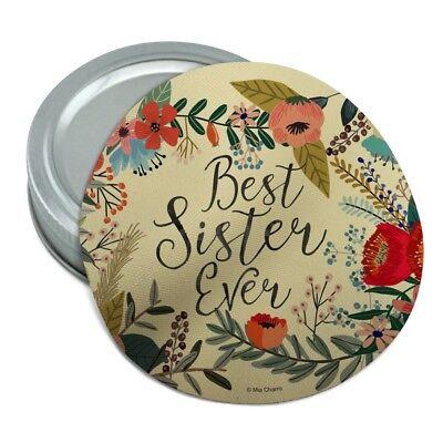 Best Sister Ever Floral Round Rubber Non-Slip Jar Gripper Lid