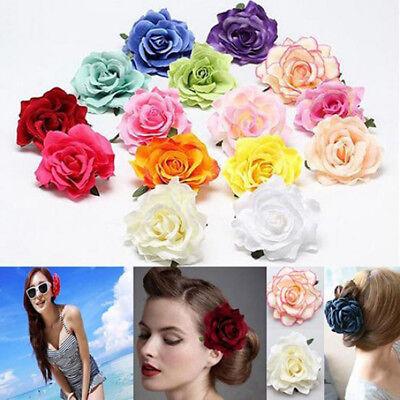 Mini Headdress For Bridal Wedding Flocking Cloth Rose Flower Hairpins Hair - Flowers For Hair