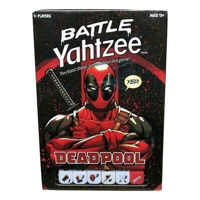 Deadpool Battle Yahtzee By Hasbro Sealed New In Box Merc Mouth Chimichangas