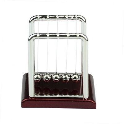 Steel Newtons Balance Ball Cradle Physics Science Pendulum Desk Fun Toy Gift