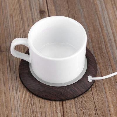 Portable USB Heat Heater Milk Tea Coffee Mug Warmer Home Off