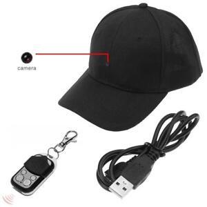 1080P HD Hidden Spy Camera Hat Cap Covert Video Recorder Wireless Remote Control