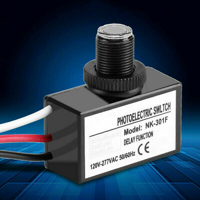 Photoelectric Photocell Automatic Switch Button Flush Mount Photo Sensor Control