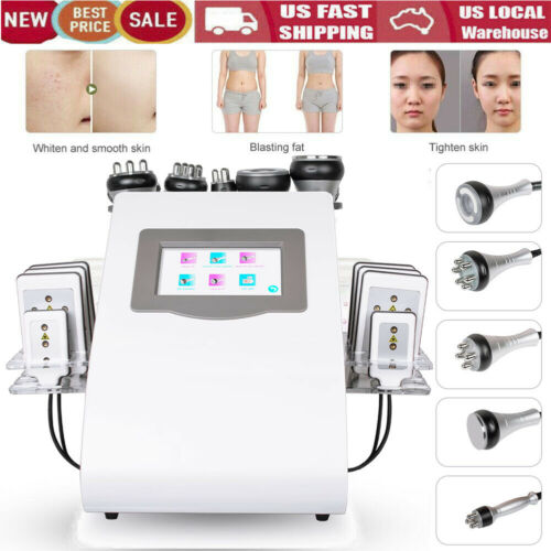 6in1 Ultrasonic Cavitation Radio Frequency Slim Machine Vacuum Body fat Remove U