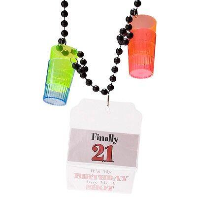 21st Birthday 1.5 oz. Shot Glass Party Beads](21st Birthday Shot Glass)