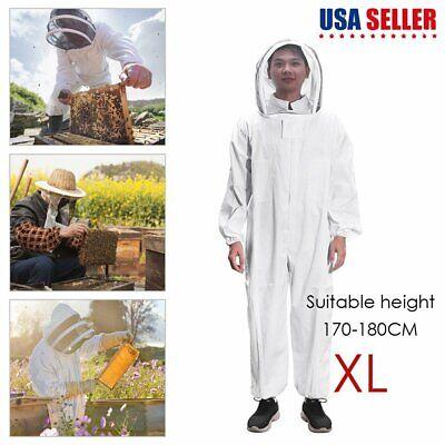 Professional Ventilated Full Body Beekeeping Bee Keeping Suit W Veil Hat