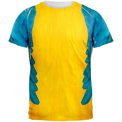 Halloween Blue & Yellow Parrot Macaw Costume All Over Adult - Blue Macaw Halloween Costumes
