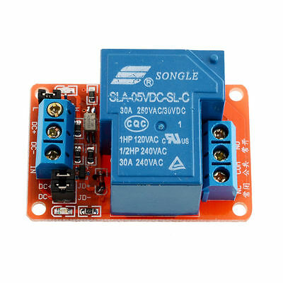 New 5v 30a 1-channel Relay Moduleoptocoupler Hl Level Triger For Arduino Elunh