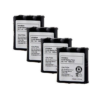 4x Hnn9044 Battery For Motorola Radio Shack 19-1217, 19-3...