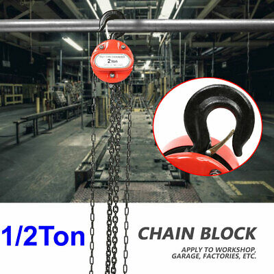 Chain Hoist Block And Tackle 12 Ton Winch Capacity Engine Lift Puller Fall Usa