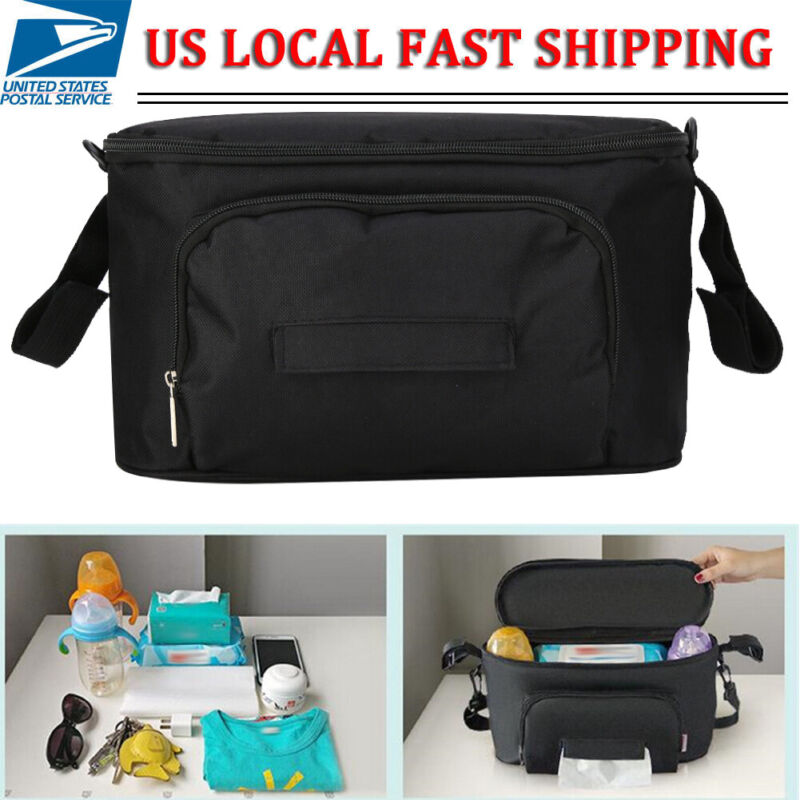 Stroller Organizer Bag Pushchair Baby Travel Diaper Nappies Storage Mommy Bags