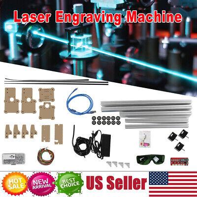 100-240v Diy Desktop Laser Engraving Cutting Machine Engraver Printer Cutter New