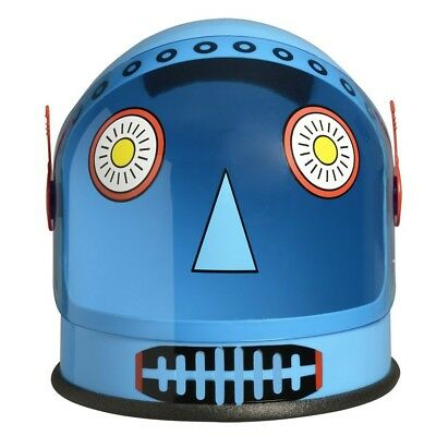 Blue Robot Helmet Android Astronaut Space Visor Costume Space Alien NASA Future