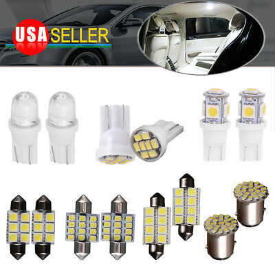 Mercury Cougar Interior - 14x White Bulbs Interior Package Kit T10 31mm 1157 Led Dome License Light Bulbs