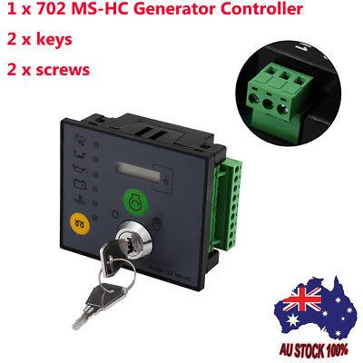 Manual/Remote Start Generator Controller + 2 Keys Engine Monitor Protection AU