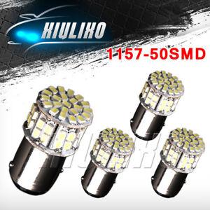 4x Super White 1157 High Power 50SMD LED Tail Brake Stop Lights Bulb BAY15D 12V