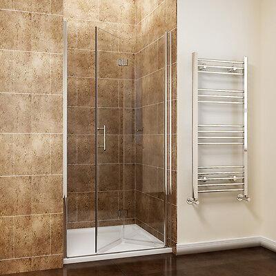 Frameless Hinge Bi fold Shower Door Enclosure and Tray Walk In ...