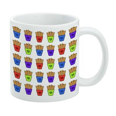 Colorful French Fries Pattern White Mug - French White-mug