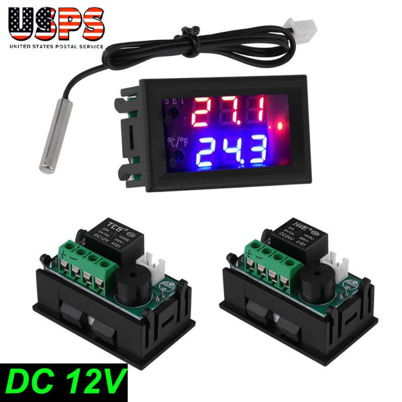 DC 12V F Fahrenheit Temperature Controller Thermostat Control 1 Relay NTC Sensor