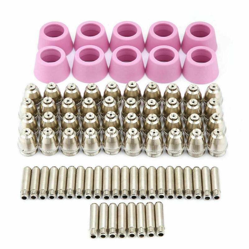 80Pcs WSD60 50P 60P Plasma Cutter Torch Consumables AG60 Metal Spacer Tips