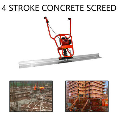 4 Stroke Gas Concrete Wet Screed 37.7cc Power Screed Cement 6.56ft Board