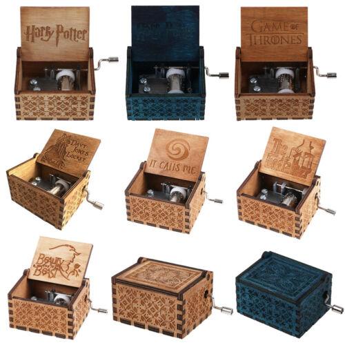 Harry Potter/Moana Weihnachten Spieldose Holz Spieluhr Music Box Kinder Geschenk