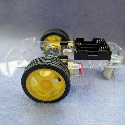 Diy 2-wheel Robot Car Chassis Kit For Arduino Black Yellow