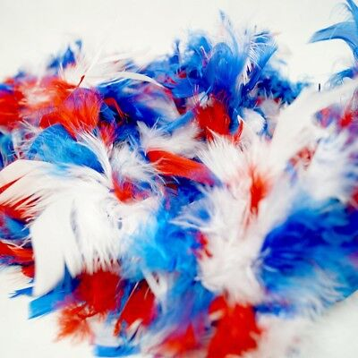 Blue Feather Boas (Red White And Blue Patriotic Feather Boa (6' 60)
