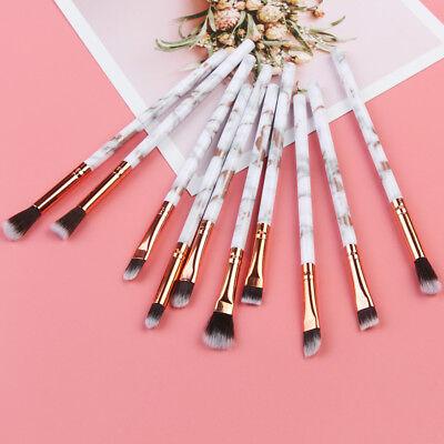 10pcs Marmor Textur Augen Make Up Pinsel Weich Lidschatten Concealer Kosmetik