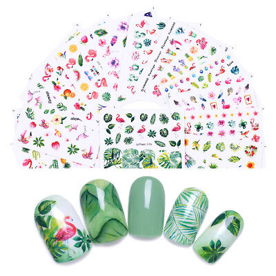 Summer Themed Decorations (10Sheets LEMOOC Nail Art Water Decals Summer Theme DIY Transfer Stickers)