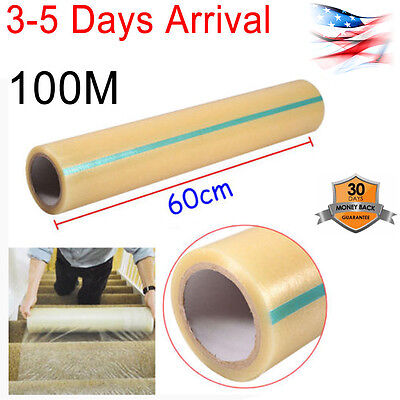Home Office Carpet Floor Protector Plastic Protection Film 24 X 328 Roll Us