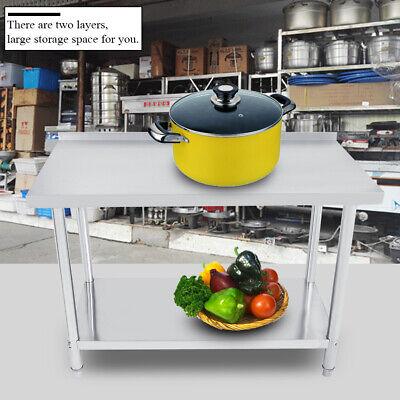 New 24x 48 Stainless Steel Work Prep Table With Backsplash Kitchen Restaurant