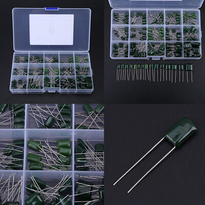 150pcs 100v 15 Value 0.33nf-470nf Polyester Film Capacitors Assortment Kit Box