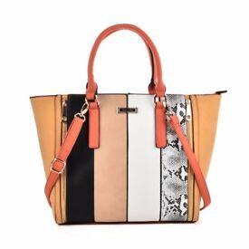 Large Sally Young Multi Handbag   Black, Multi